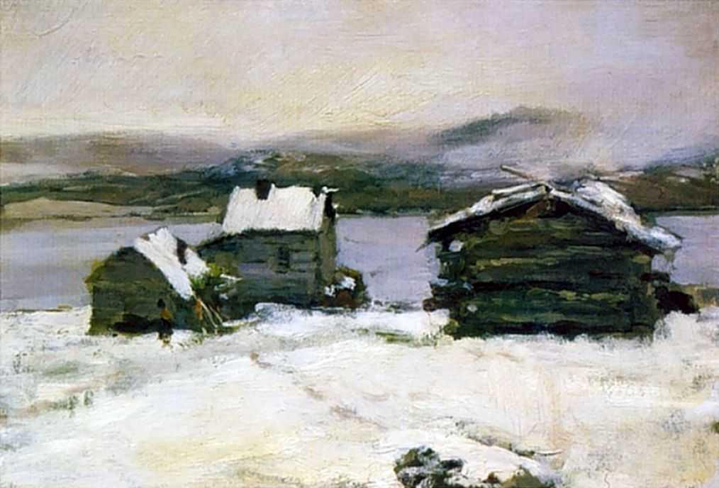 Зима в Лапландии — Коровин Константин Алексеевич