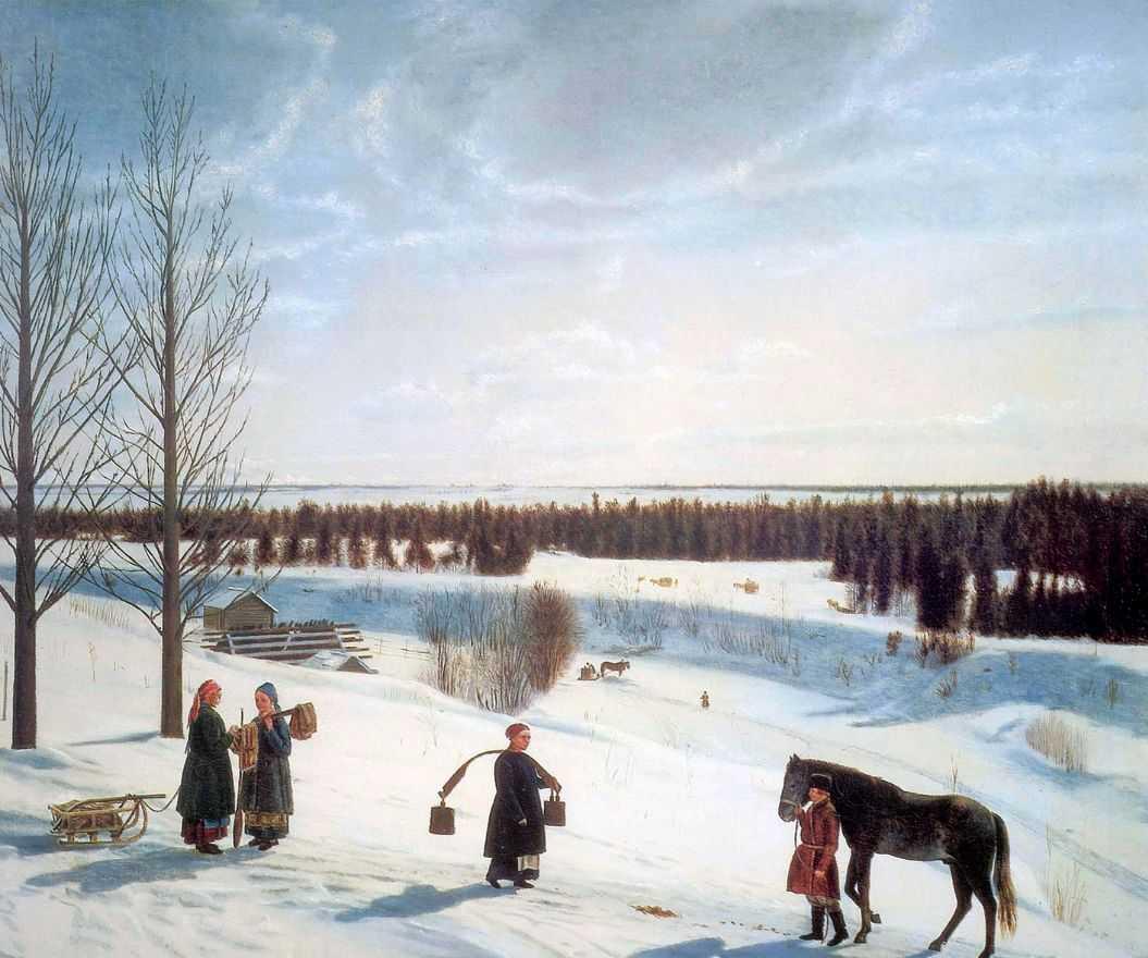 Зимний пейзаж (Русская зима) — Коровин Константин Алексеевич