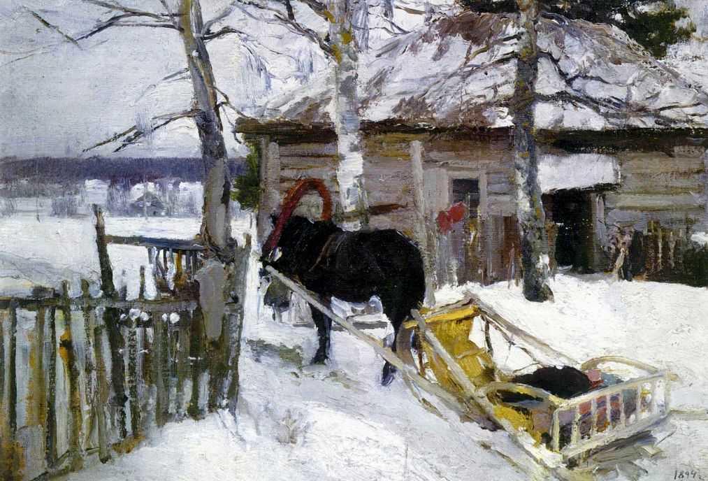 Зимой — Коровин Константин Алексеевич