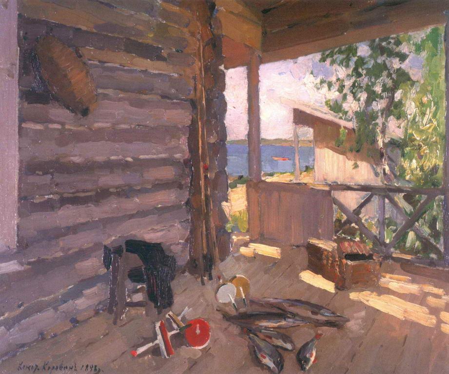 На Сенежском озере — Коровин Константин Алексеевич