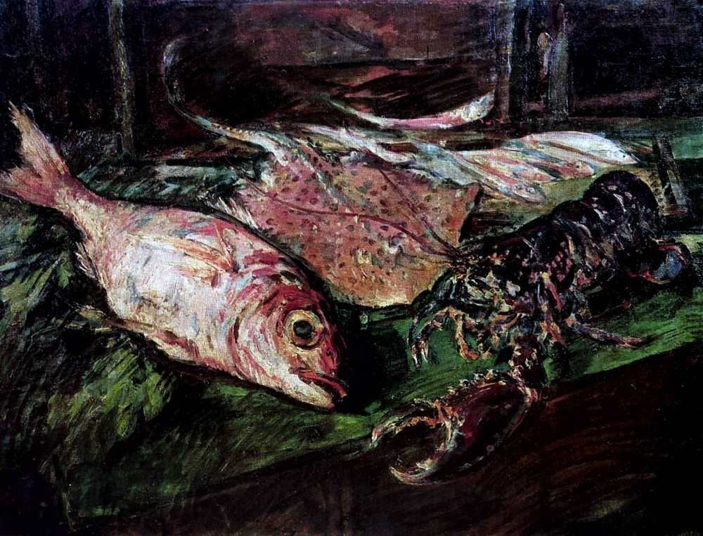 Натюрморт с омаром — Коровин Константин Алексеевич