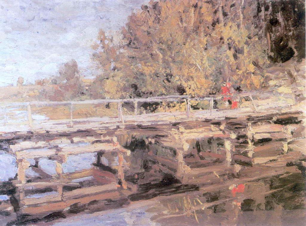 Осень. На мосту — Коровин Константин Алексеевич