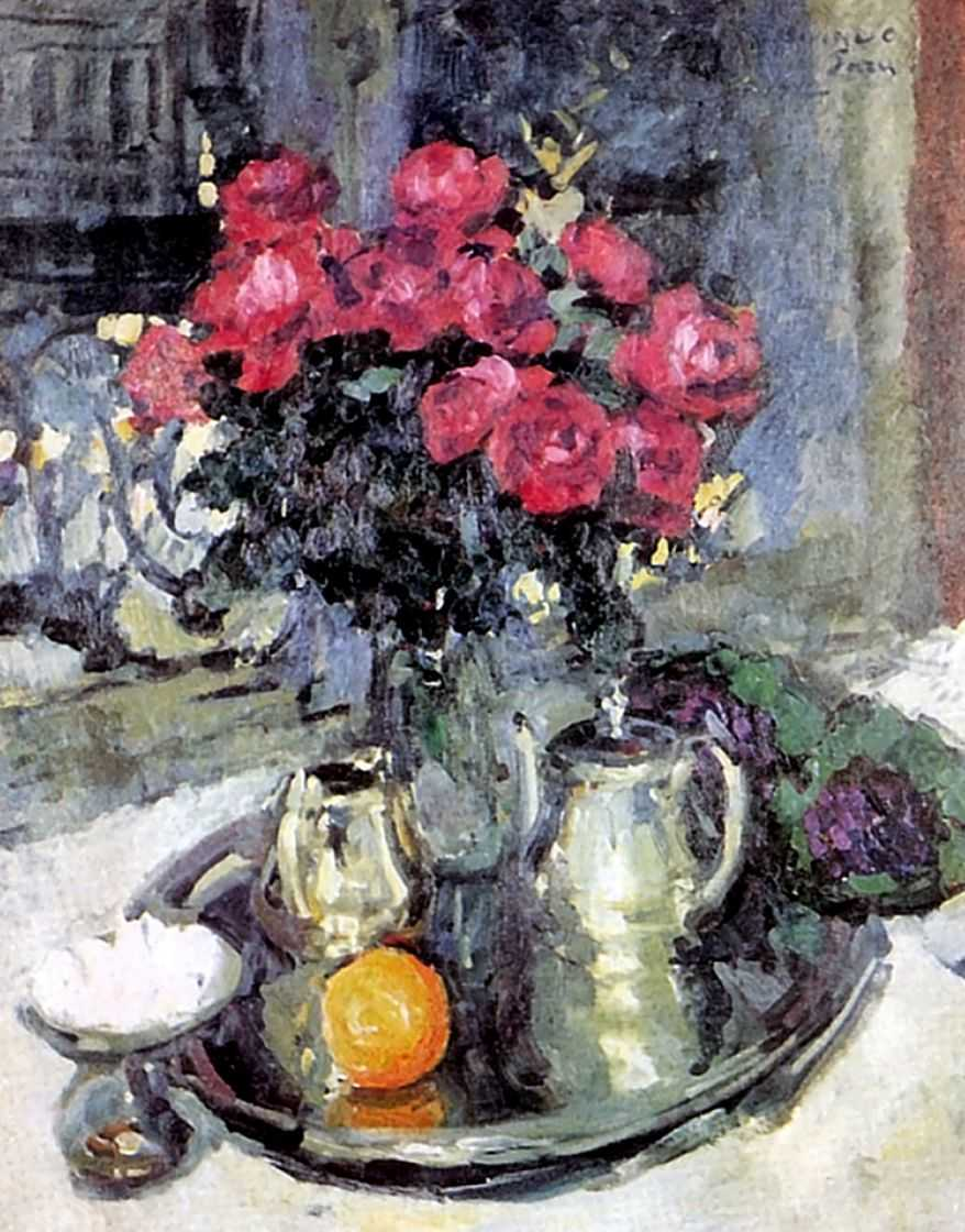 Розы и фиалки — Коровин Константин Алексеевич