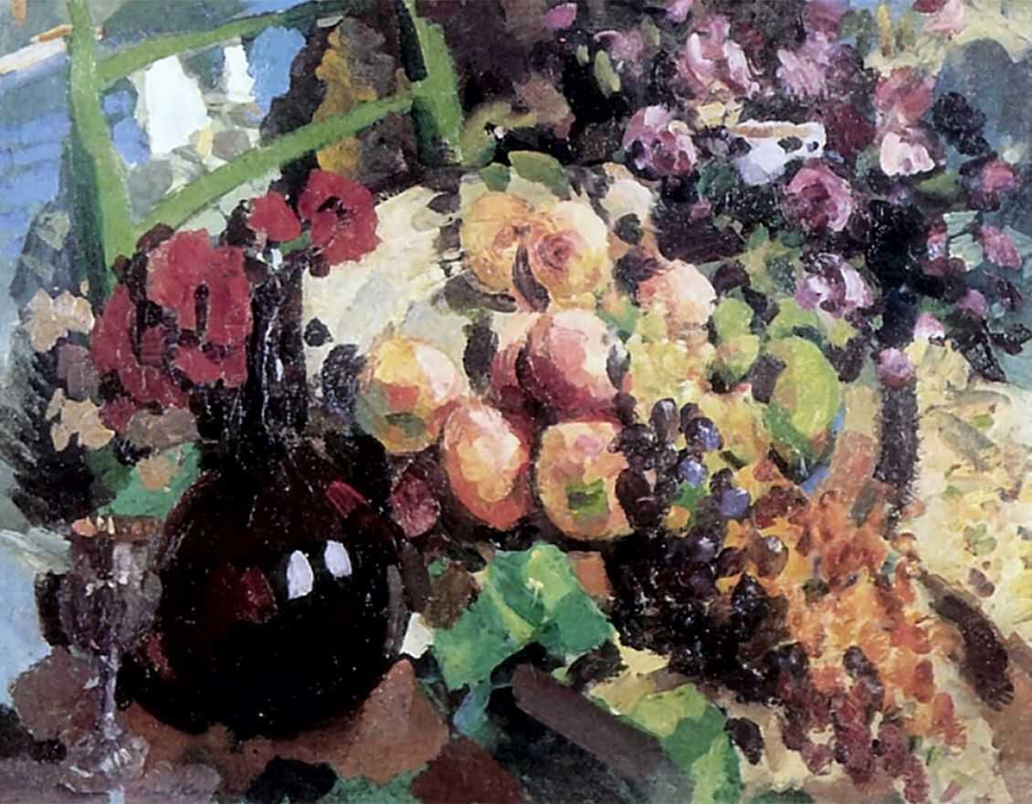 Рыбы, вино и фрукты — Коровин Константин Алексеевич