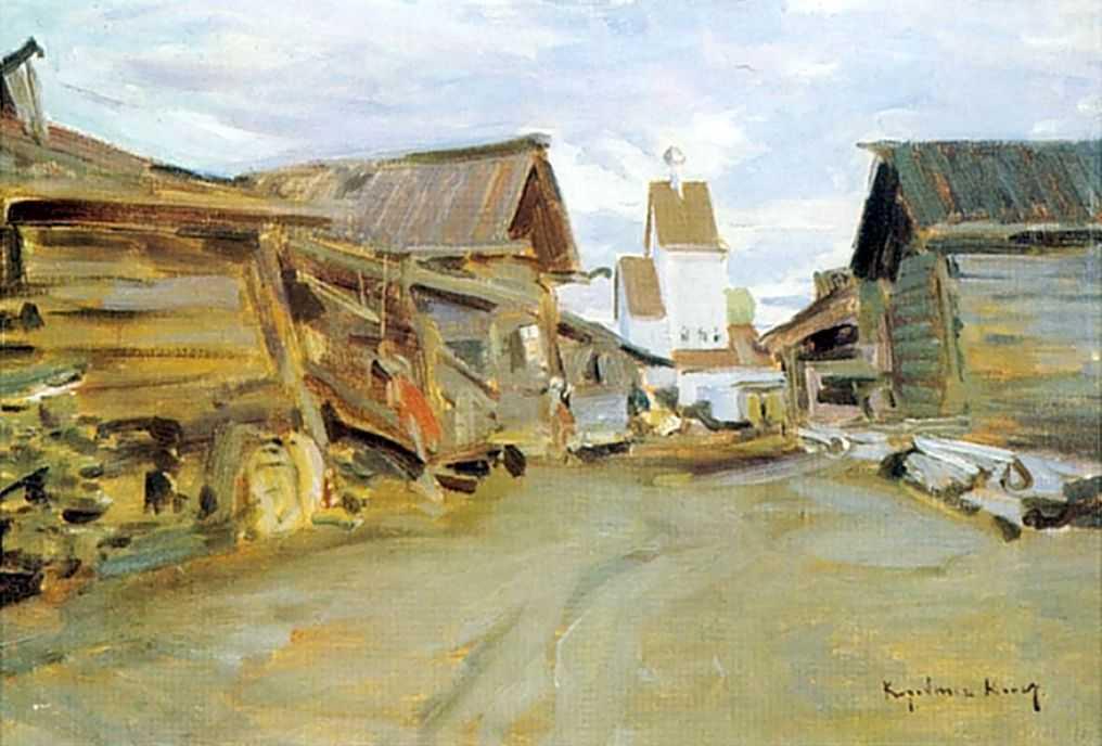 Село на севере России — Коровин Константин Алексеевич