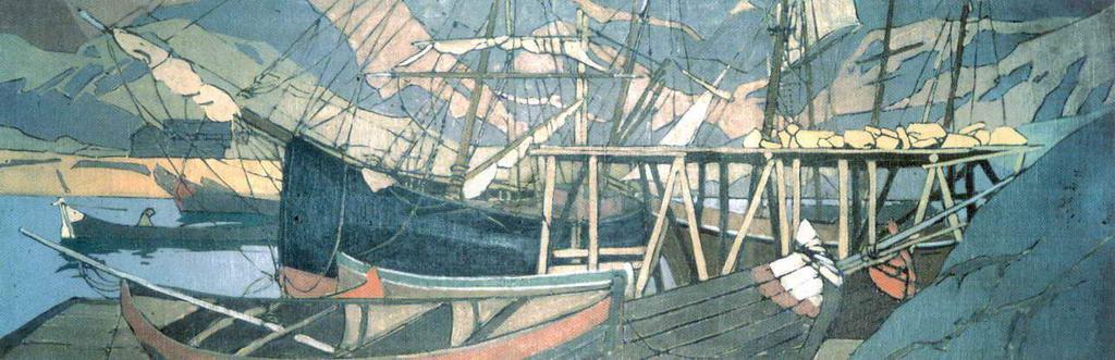 У становища корабля — Коровин Константин Алексеевич