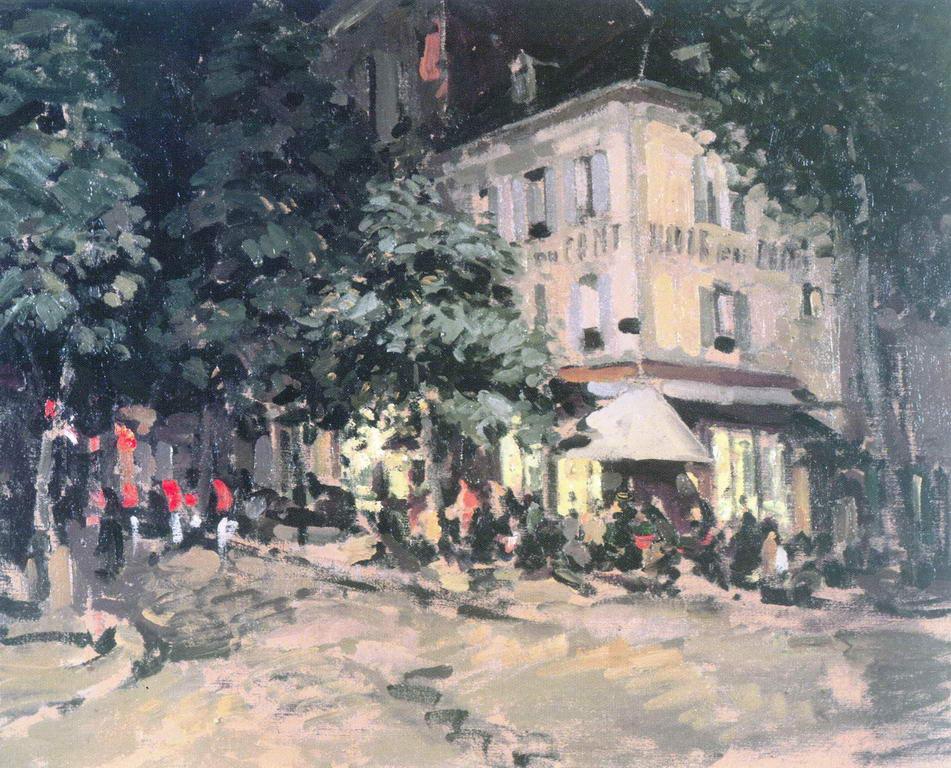Улица в Виши — Коровин Константин Алексеевич