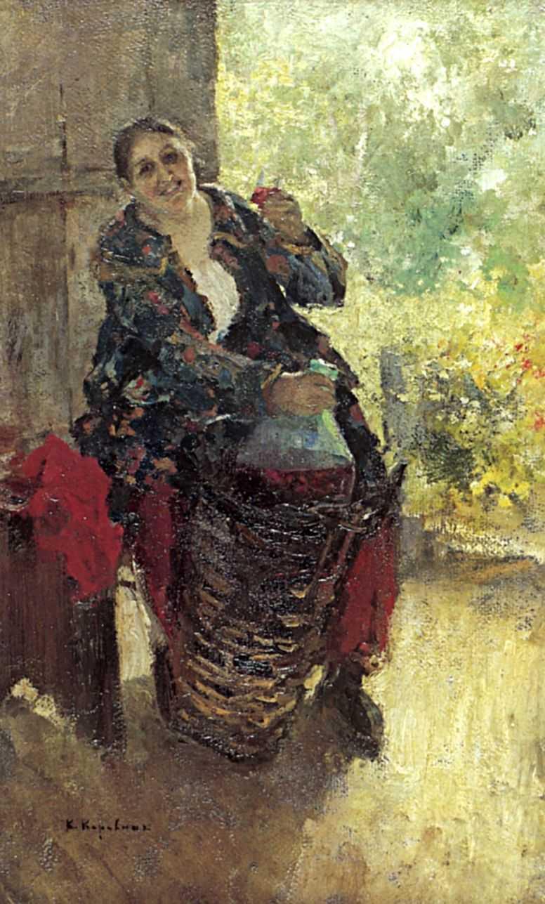 Хозяйка (Женщина с вином) — Коровин Константин Алексеевич