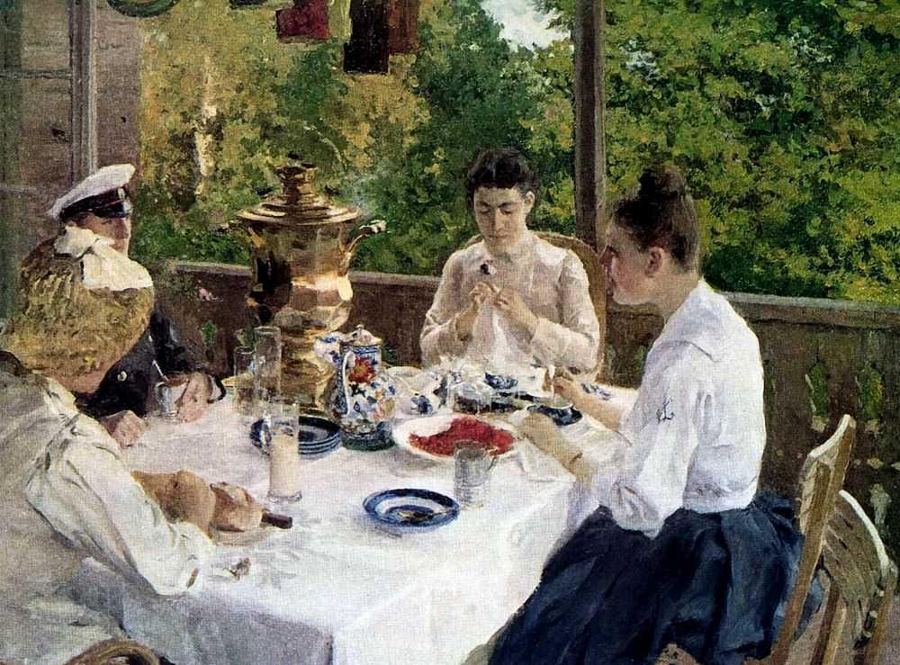 За чайным столом — Коровин Константин Алексеевич