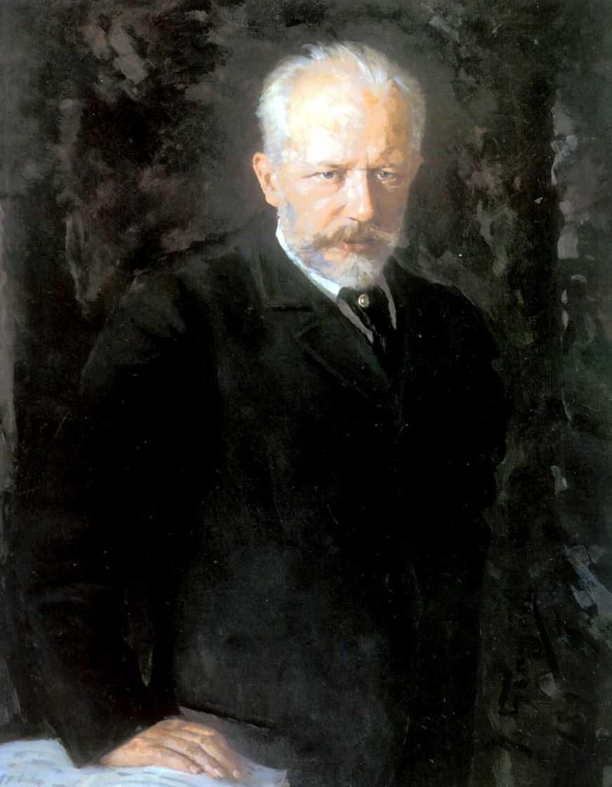 Портрет композитора Петра Ильича Чайковского — Кузнецов Николай Дмитриевич