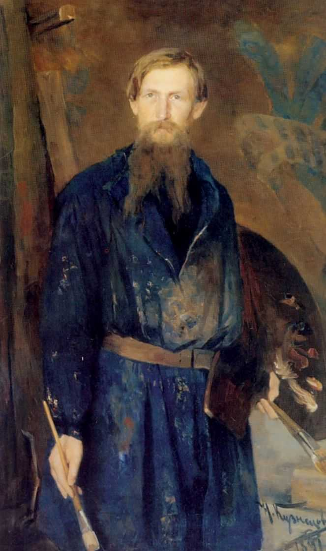 Портрет художника Виктора Михайловича Васнецова. — Кузнецов Николай Дмитриевич