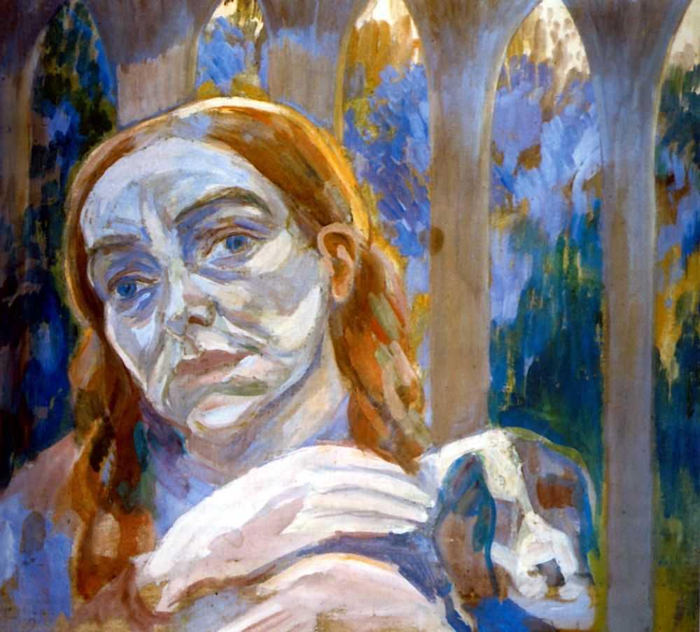 Женщина с собачкой — Кузнецов Павел Варфоломеевич