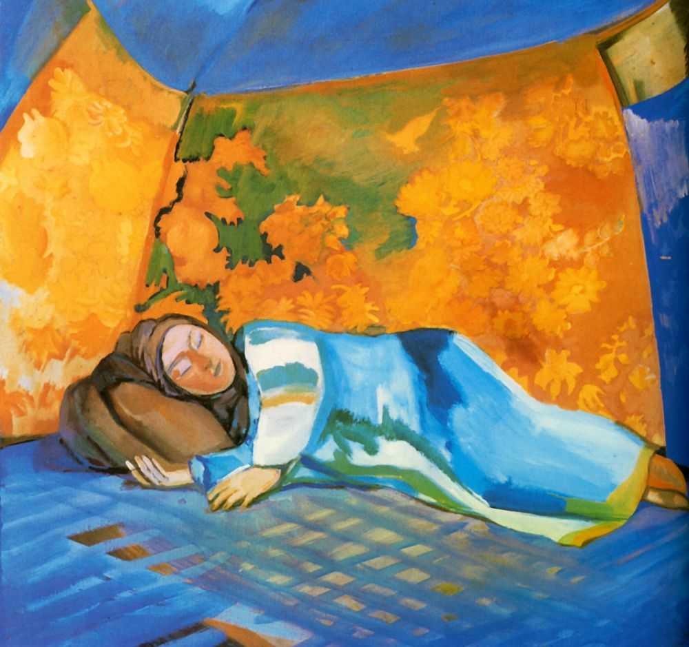 Спящая в кошаре. — Кузнецов Павел Варфоломеевич