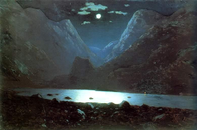 Дарьяльское ущелье. Лунная ночь — Куинджи Архип Иванович