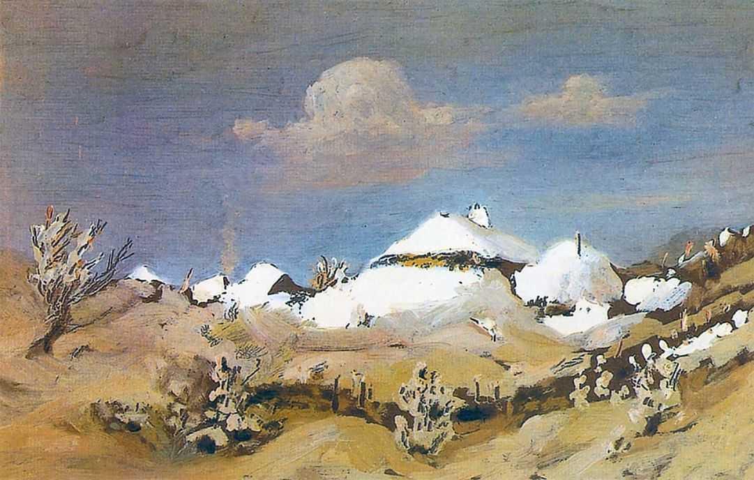 Зима. Пятна бунного света на крышах хат — Куинджи Архип Иванович
