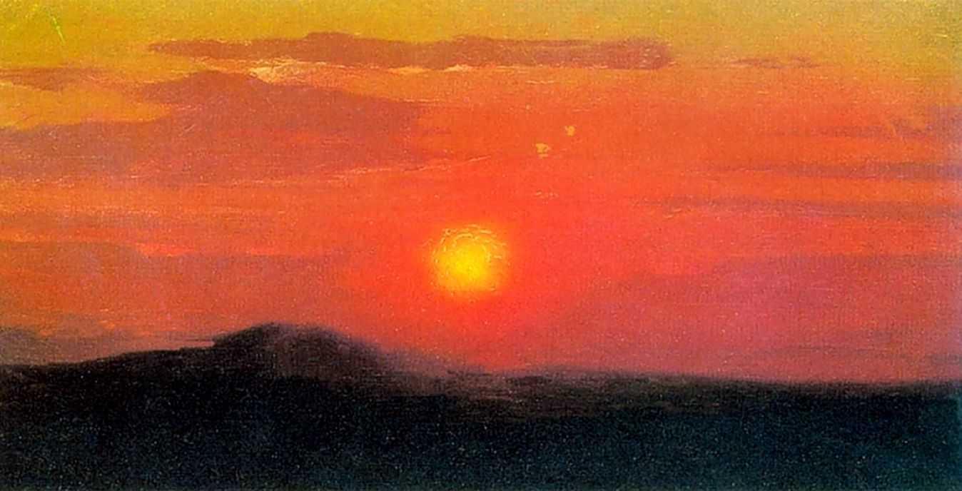 Красный закат.Эскиз — Куинджи Архип Иванович