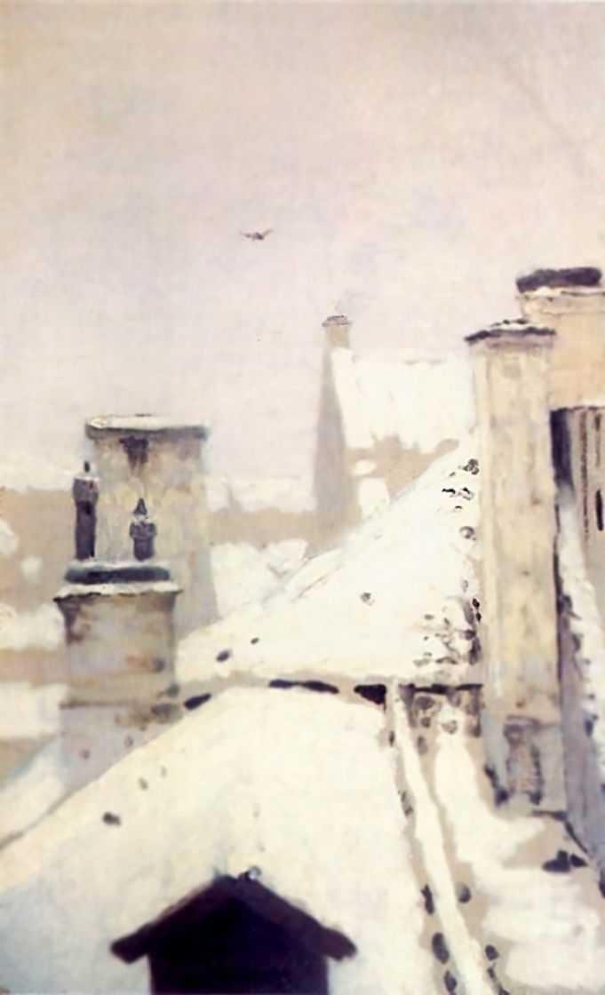 Крыши. Зима — Куинджи Архип Иванович