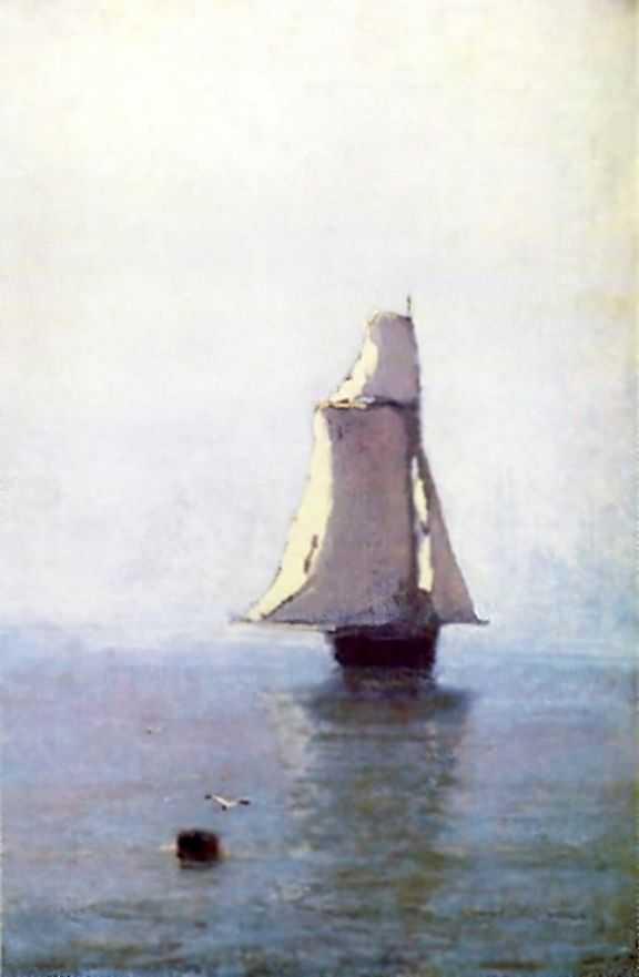 Море с парусным кораблем — Куинджи Архип Иванович