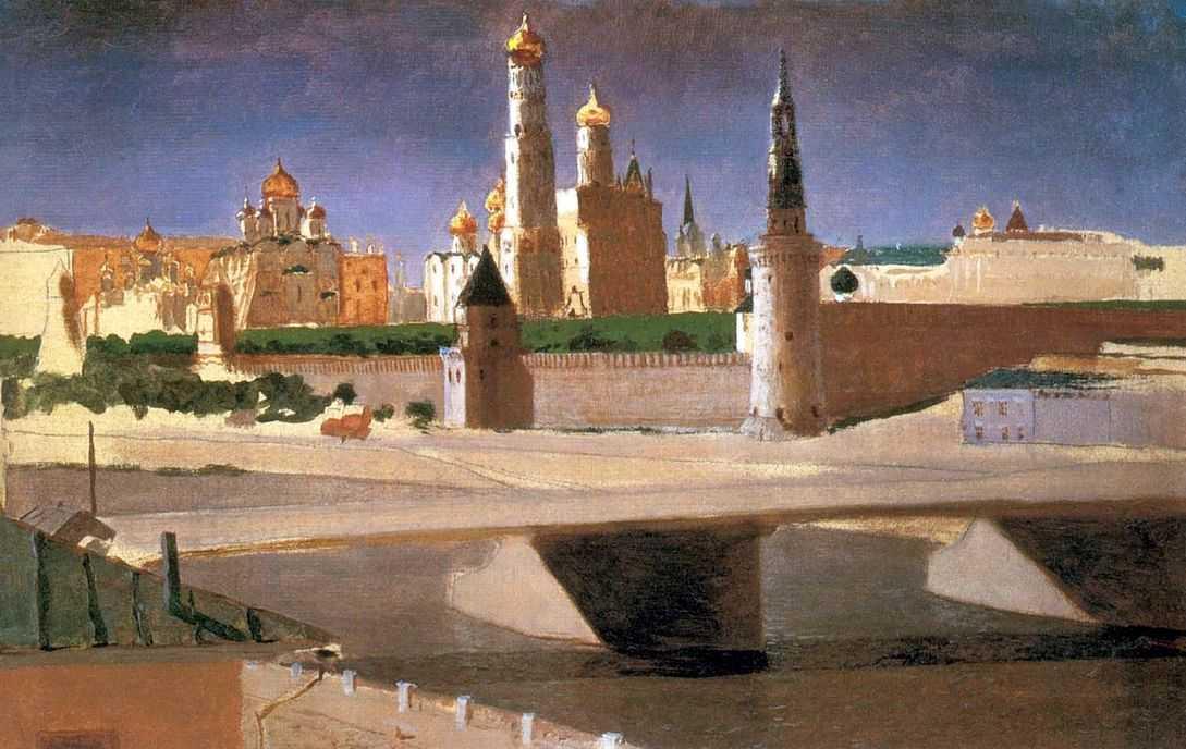 Москва. Вид на Кремль со стороны Замоскворечья — Куинджи Архип Иванович