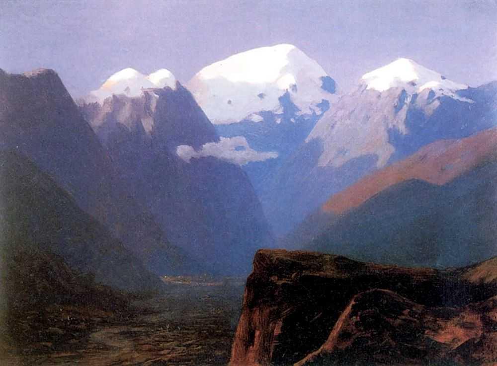 Снежные вершины. Кавказ — Куинджи Архип Иванович