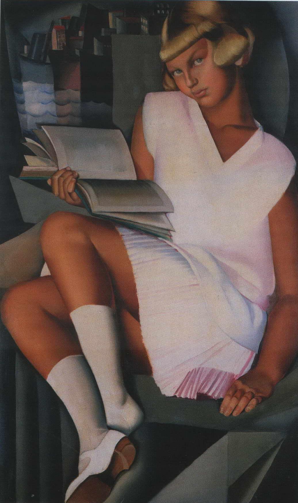 Кизетта в розовом платье — Лемпицка Тамара