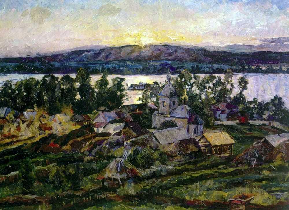 Закат на Волге. — Лентулов Аристарх Васильевич