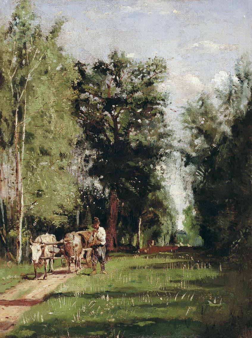 Пейзаж с водовозом — Маковская Александра Егоровна