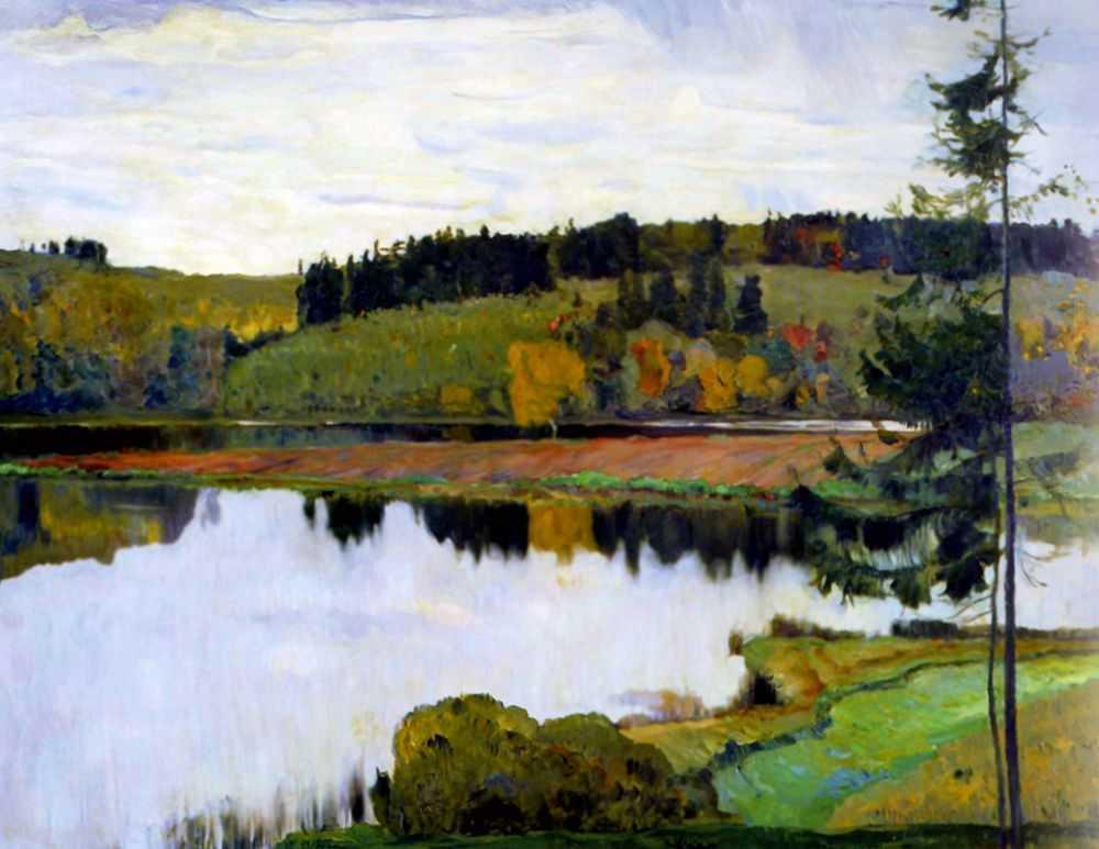 Осенний пейзаж — Нестеров Михаил Васильевич