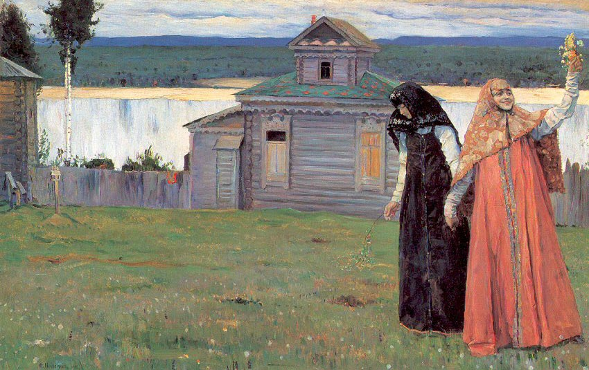 Сёстры — Нестеров Михаил Васильевич