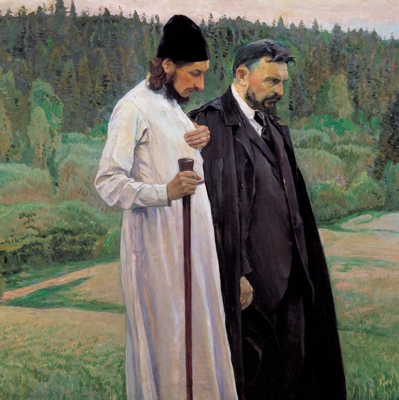Философы (Флоренский и Булгаков) — Нестеров Михаил Васильевич