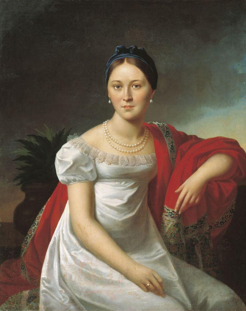 Портрет молодой женщины — Олешкевич Иосиф Иванович