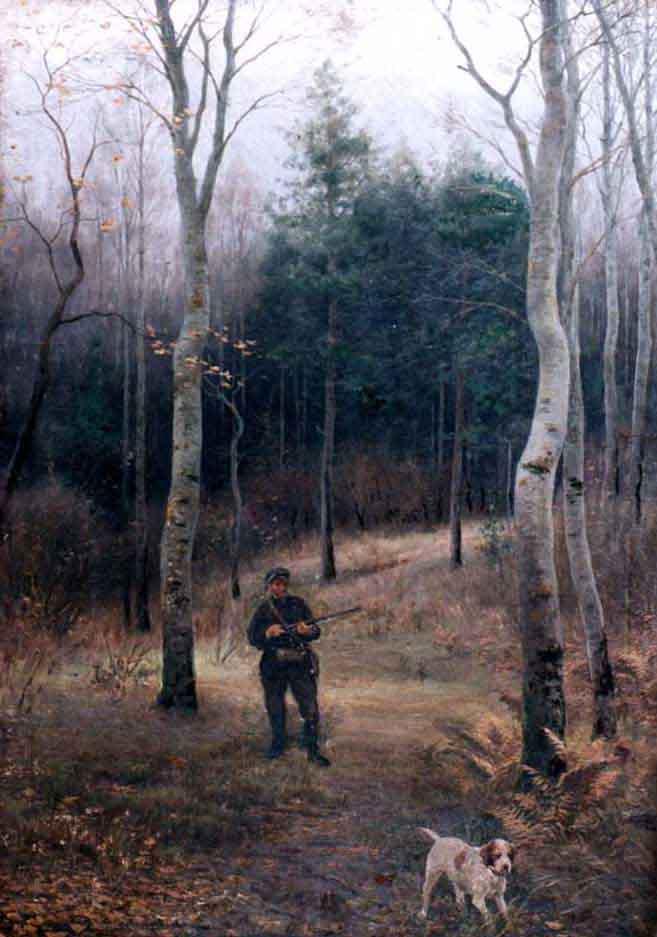 Охотник с собакой — Батурин Виктор Павлович