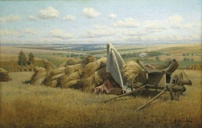 Пейзаж со снопами — Батурин Виктор Павлович