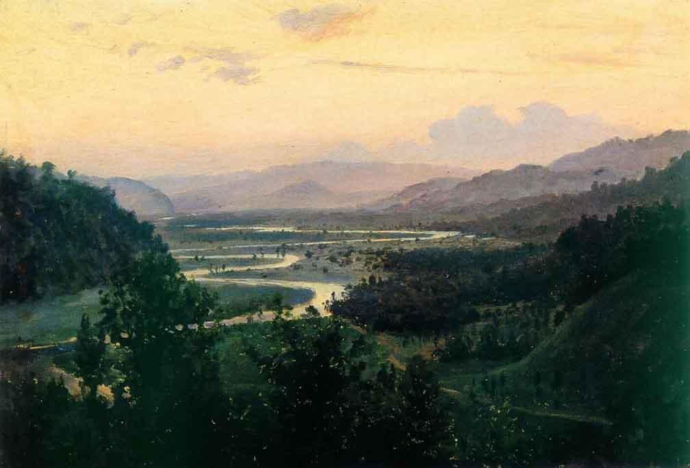 Пейзаж. Долина реки — Батурин Виктор Павлович