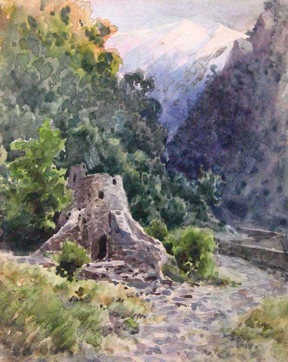 Ущелье на Кавказе — Батурин Виктор Павлович