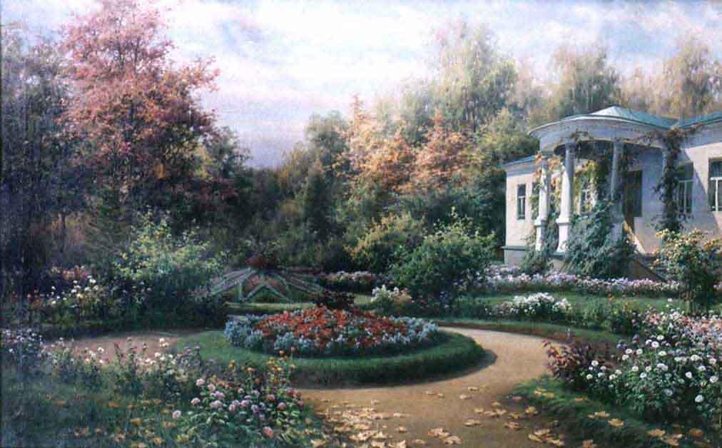 Цветник в Ясной Поляне — Батурин Виктор Павлович