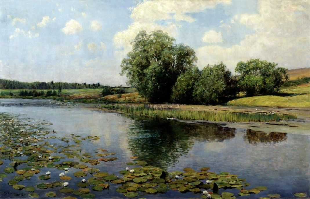 Речка в полдень — Остроухов Илья Семенович