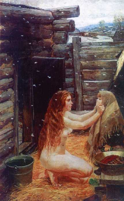 Весна. В бане — Пластов Аркадий Александрович