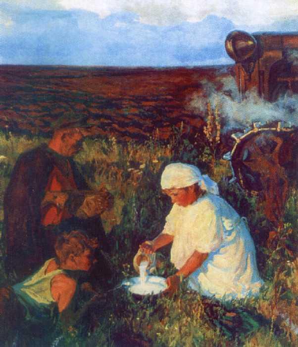 Ужин трактористов — Пластов Аркадий Александрович