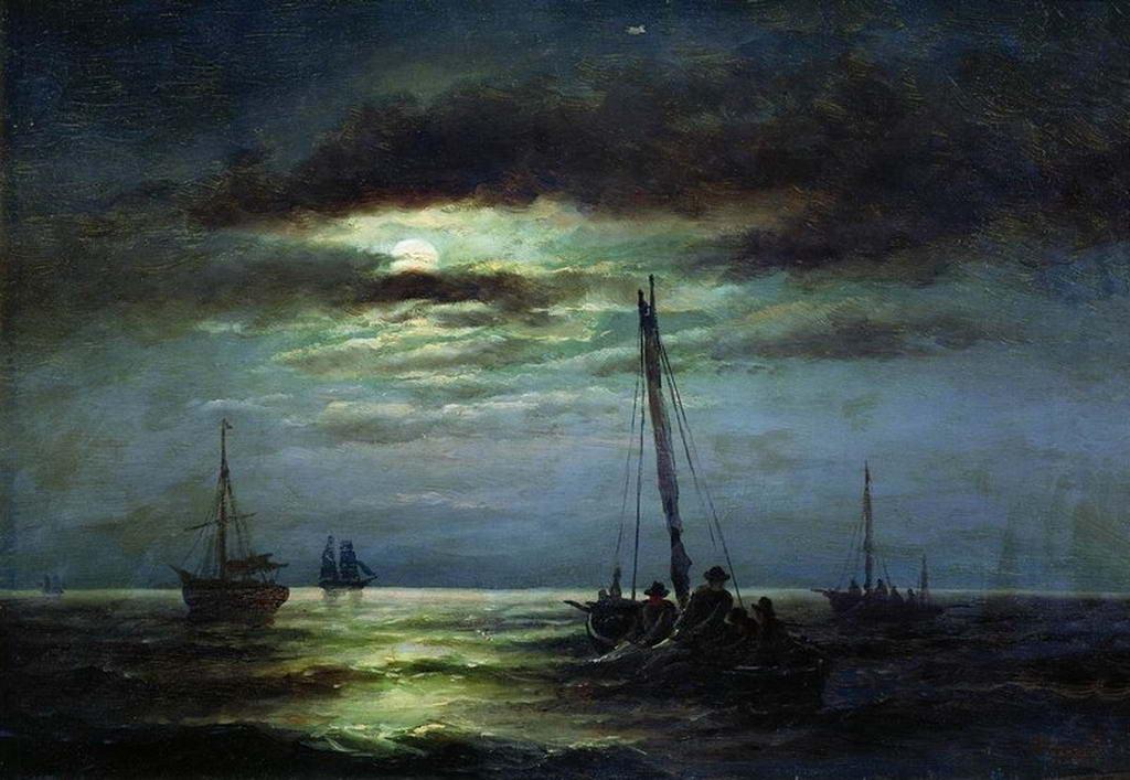 Ночь на реке — Беггров Александр Карлович
