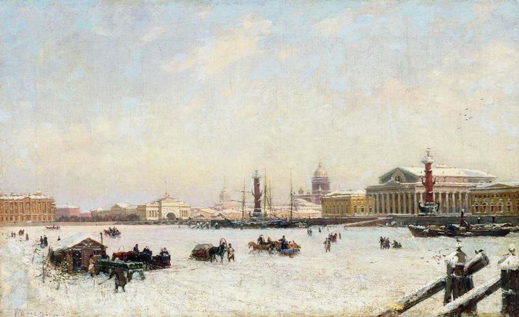 Петербург зимой — Беггров Александр Карлович