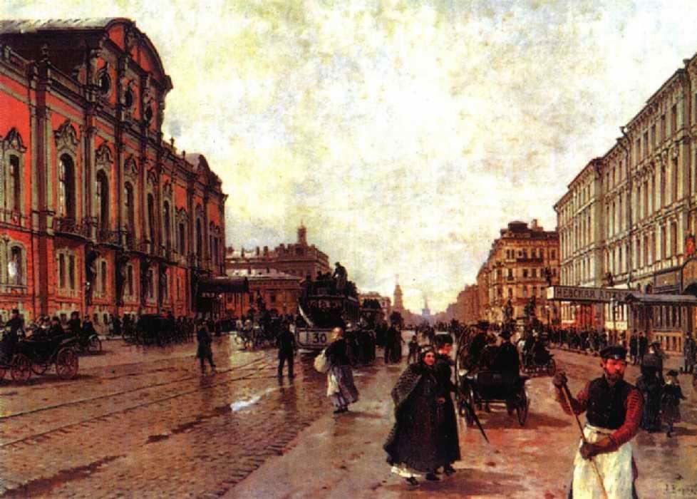 Утром на Невском проспекте — Беггров Александр Карлович
