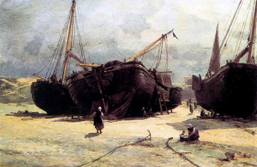 Шевенинген. Починка рыбачьих судов — Беггров Александр Карлович