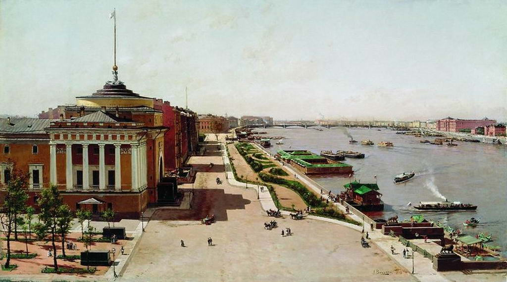Вид на Неву от Зимнего дворца — Беггров Александр Карлович