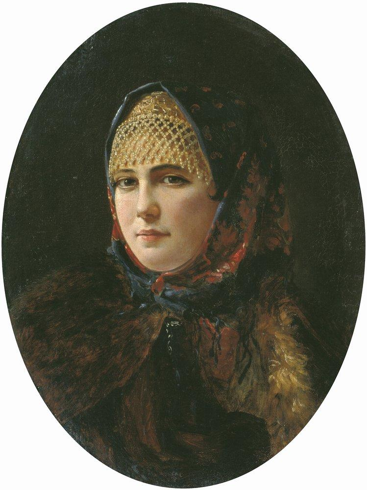 Портрет девушки — Рачков Николай Ефимович