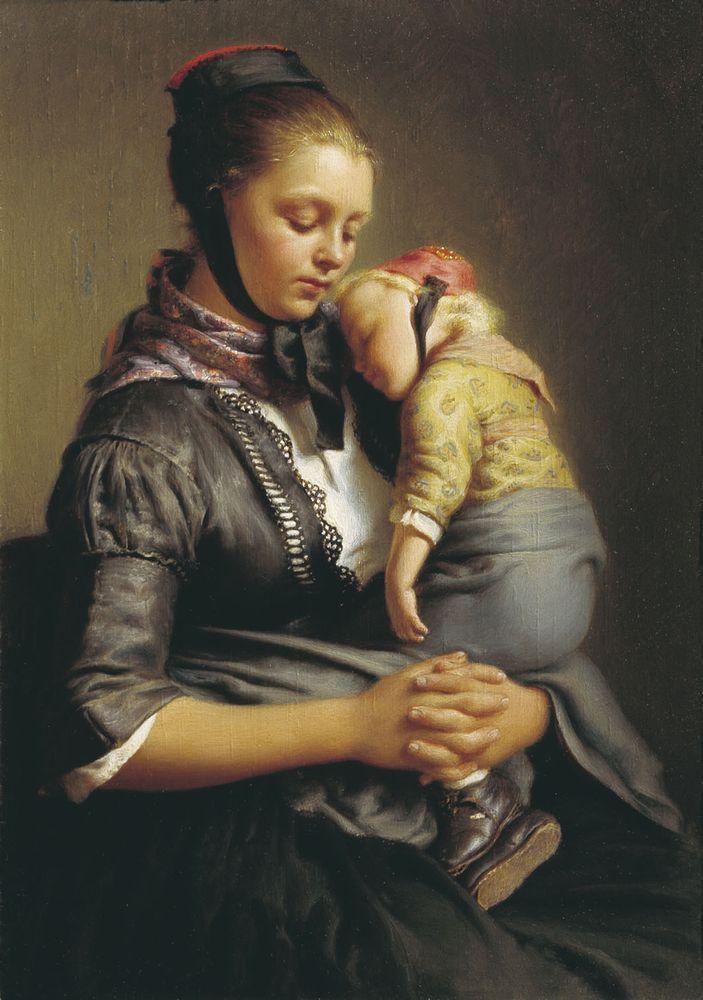 Крестьянка из Вилленсхаузена с уснувшим ребенком на руках — Рейтерн Евграф Романович