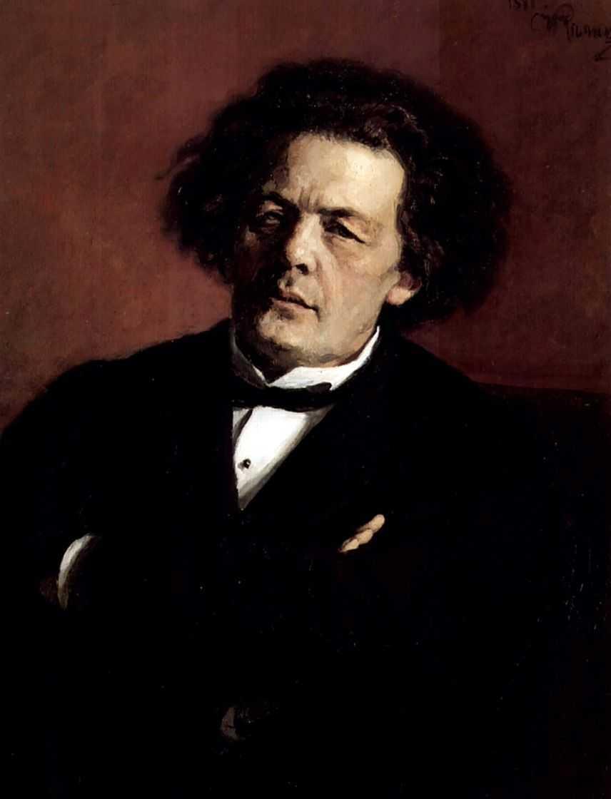 Портрет композитора А.Г.Рубинштейна. — Репин Илья Ефимович