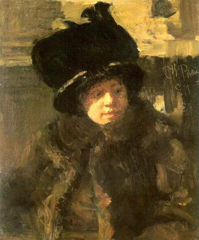 Портрет писательницы Н.Б.Нордман-Северовой 1 — Репин Илья Ефимович