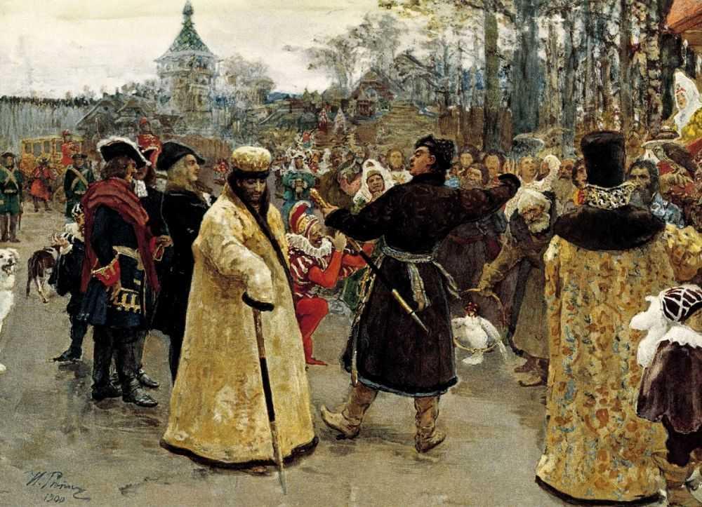 Портрет царей Петра и Иоанна. — Репин Илья Ефимович