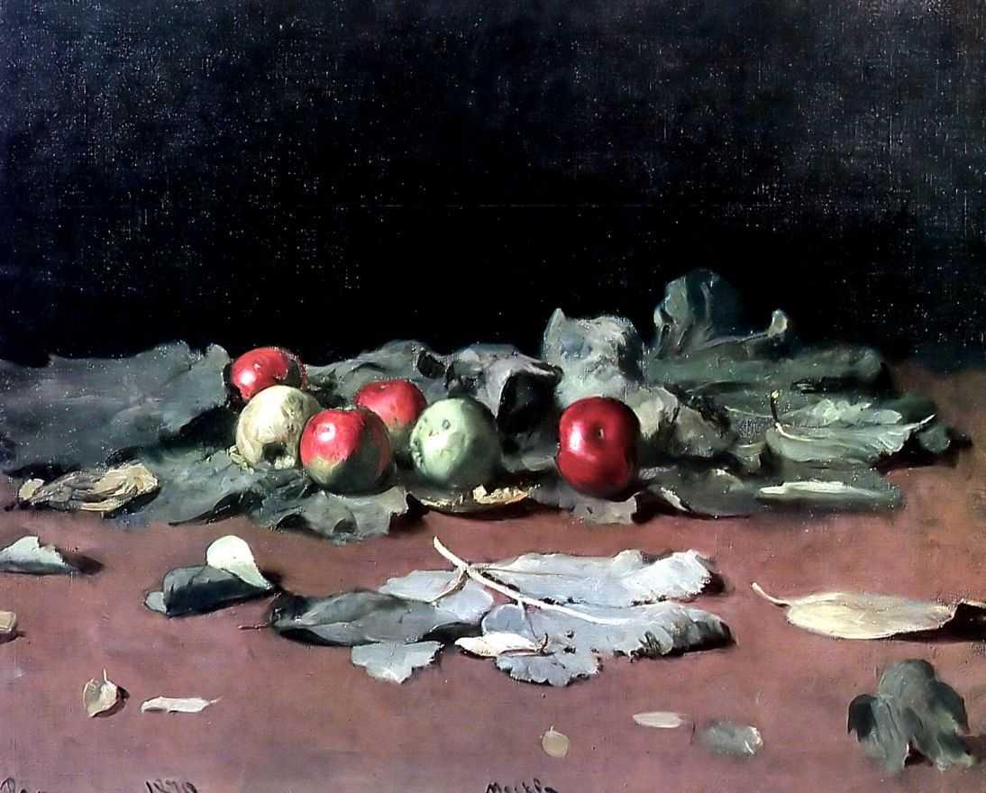 Яблоки и листья — Репин Илья Ефимович